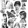 Black and White Collage Sheet